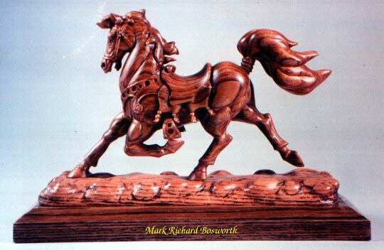Woodcarving picture of a horse called The Royal Equine